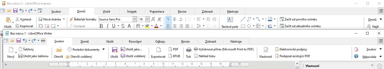 LibreOffice Karty / Tabbed