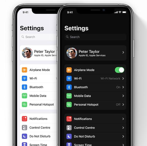 iOS 13 Dark Mode concept by Léo Vallet