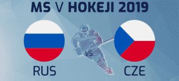 Česko vs Rusko - Mistrovství světa v ledním hokeji