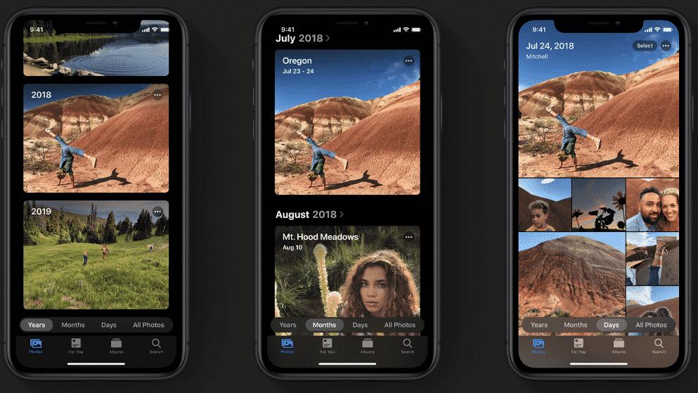 Fotky iOS 13